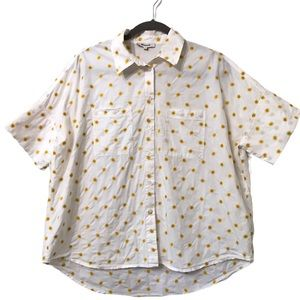 MADEWELL COURIER WHITE SUN EMBROIDERY BUTTON SHIRT